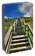 Stairs From The Beach Portable Battery Charger
