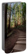 Stairs Into The Woods Portable Battery Charger