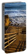 Steps To Blue Ocean And Rocky Beach Portable Battery Charger