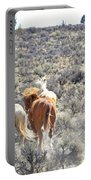 Stampede Of Wild Horses Portable Battery Charger