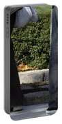 Standing Before The Eternal Flame Portable Battery Charger