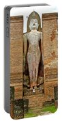 Standing Buddha At Wat Mahathat In 13th Century Sukhothai Historical Park-thailand Portable Battery Charger