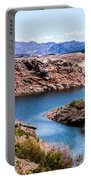 Standing In A Ravine At Lake Mead Portable Battery Charger