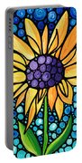 Standing Tall - Sunflower Art By Sharon Cummings Portable Battery Charger