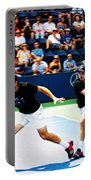 Stanislas Wawrinka In Action Portable Battery Charger by Nishanth Gopinathan