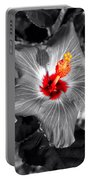 Star Bright Hibiscus Selective Coloring Digital Art Portable Battery Charger