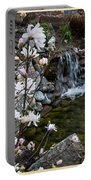 Star Magnolia And Flowing Water Portable Battery Charger