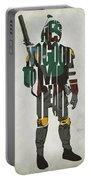 Star Wars Inspired Boba Fett Typography Artwork Portable Battery Charger