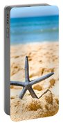 Starfish On Algarve Beach Portugal Portable Battery Charger