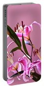 Stargazer Lilies Square Frame Portable Battery Charger