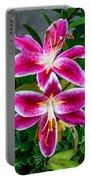 Stargazer Oriental Lilies Portable Battery Charger