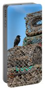 Starling On Lobster Pots Portable Battery Charger