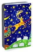 Stars And Snowfall Portable Battery Charger