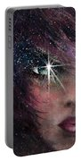 Stars In Her Eyes Portable Battery Charger by Rachel Christine Nowicki