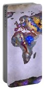 Stars World Map Space Portable Battery Charger