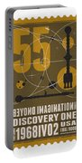 Starschips 55-poststamp -discovery One Portable Battery Charger by Chungkong Art