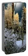 Starshine On A Snowy Wood Portable Battery Charger