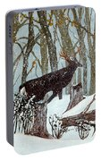 Startled Buck - White Tail Deer Portable Battery Charger