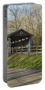 State Line Or Bebb Park Covered Bridge Portable Battery Charger by Jack R Perry