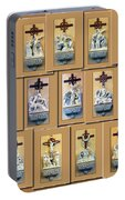Stations Of The Cross Collage Portable Battery Charger