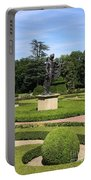 Statue In A Boxwood Garden Portable Battery Charger
