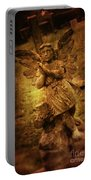 Statue Of Angel Portable Battery Charger by Amanda Elwell