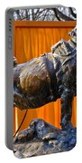 Statue Of Balto In Nyc Central Park Portable Battery Charger