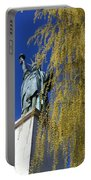 statue of liberty in Paris Portable Battery Charger
