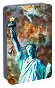 Statue Of Liberty - She Stands Portable Battery Charger