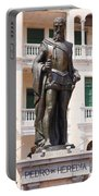 Statue Of Pedro De Heredia Portable Battery Charger