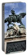 Statue Of Prince Eugene Of Savoy In Budapest Portable Battery Charger