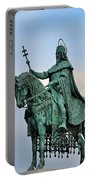 Statue Of St Stephen Hungary King Portable Battery Charger