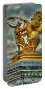 Statue On Pont Alexandre IIi Portable Battery Charger