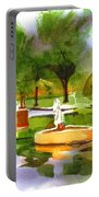 Ste Marie Du Lac In Watercolor IIb Portable Battery Charger