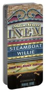 Steam Boat Willie Signage Main Street Disneyland 01 Portable Battery Charger