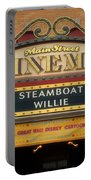 Steam Boat Willie Signage Main Street Disneyland 02 Portable Battery Charger