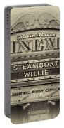 Steam Boat Willie Signage Main Street Disneyland Heirloom Portable Battery Charger