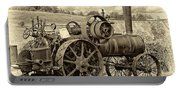 Steam Powered Tractor Sepia Portable Battery Charger