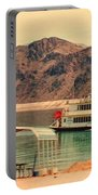 Steamer Along Lake Mead Portable Battery Charger