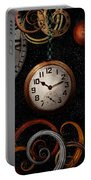 Steampunk - Abstract - The Beginning And End Portable Battery Charger by Mike Savad