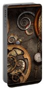 Steampunk - Abstract - Time Is Complicated Portable Battery Charger by Mike Savad
