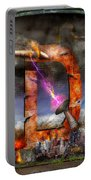 Steampunk - Alphabet - D Is For Death Ray Portable Battery Charger