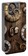 Steampunk - Clock - Time Machine Portable Battery Charger by Mike Savad