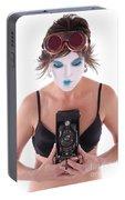 Steampunk Geisha Photographer II Portable Battery Charger