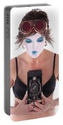 Steampunk Geisha Photographer II Portable Battery Charger
