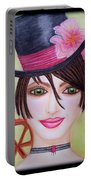 Steampunk Girl Portable Battery Charger