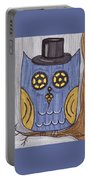 Steampunk Owl Portable Battery Charger