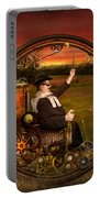 Steampunk - The Gentleman's Monowheel Portable Battery Charger by Mike Savad