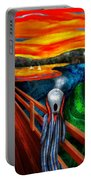 Steampunk - The Scream Portable Battery Charger by Mike Savad