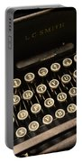 Steampunk - Typewriter - The Age Of Industry Portable Battery Charger by Paul Ward